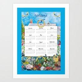 Welcome 2015 Calendar Art Print