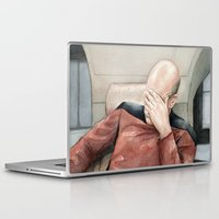 meme Laptop & iPad Skins featuring Picard Facepalm Meme by Olechka