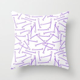 BOBBY PINS ((amethyst)) Throw Pillow