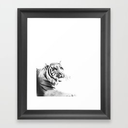 Tiger Black & White #1 #decor #art #society6 Framed Art Print