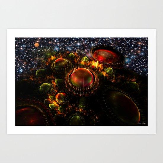 Starship Arriving Art Print