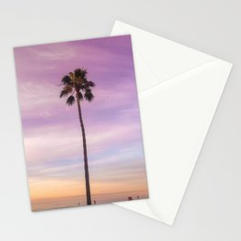 Sunset Palm in Southern California Stationery Cards