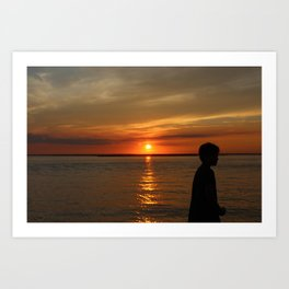sunset brotha Art Print