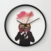 radiohead Wall Clocks featuring Radiohead by Daniel Taylor