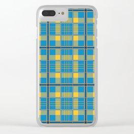 Tartan Plaid Clear iPhone Case
