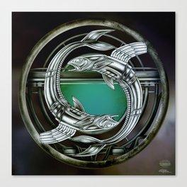 """Astrological Mechanism - Pisces"" Canvas Print"