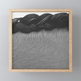 Braided Mane Framed Mini Art Print