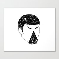 spock Canvas Prints featuring Spock by Carlo Vargas
