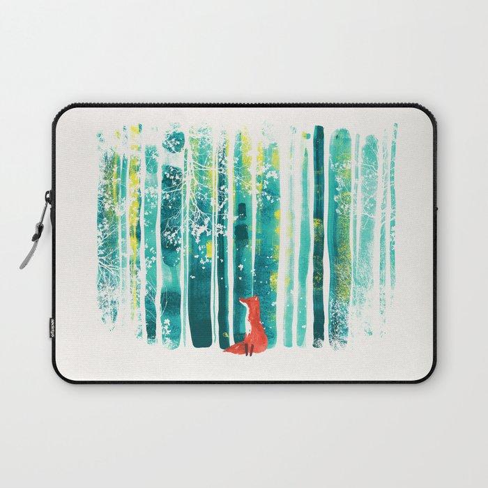 Fox in quiet forest Laptop Sleeve