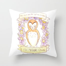 How To Be A Decent Person - Owl Throw Pillow