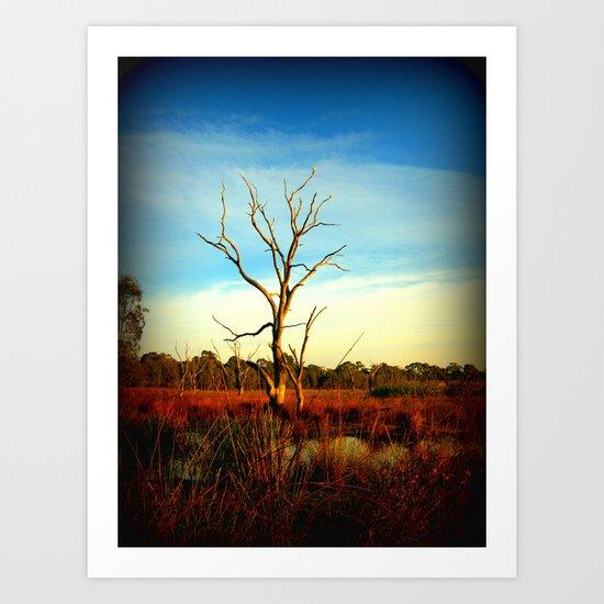 Cockatoo Tree Art Print
