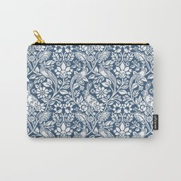 William Morris Navy Bunny & Pheasant Pattern Carry-All Pouch