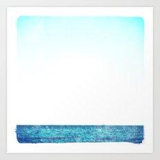 summer sail (blue) Art Print