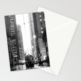 Memories of a streetcar street photography Toronto Downtown Stationery Cards