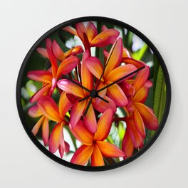 wake up and smell the flowers Wall Clock