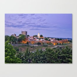 Braganca, Portugal at dusk Canvas Print