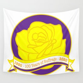 Suffrage Rose - 100th Anniversary 19th Amendement Wall Tapestry