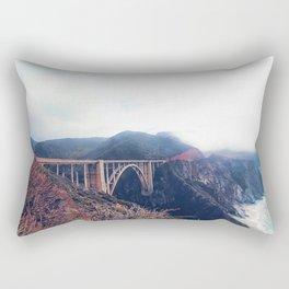 beautiful landscape at Bixby bridge, Big Sur, California, USA Rectangular Pillow