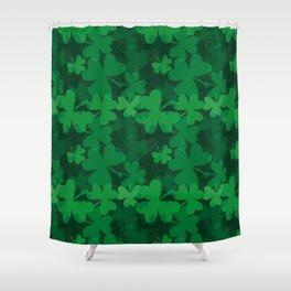 Happy St. Patrick's Day-Shamrock-Irish Day Shower Curtain