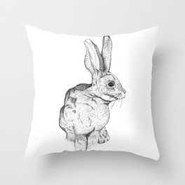 Bushman Hare Throw Pillow