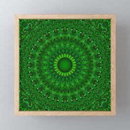 Green Garden Mandala Framed Mini Art Print
