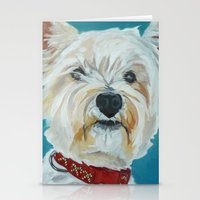 westie Stationery Cards featuring Jesse the Beautiful Westie by Barking Dog Creations Studio