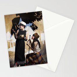 The Feather of Finest the Falcon Stationery Cards