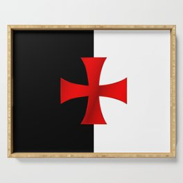 Dual color knights templar red cross Serving Tray