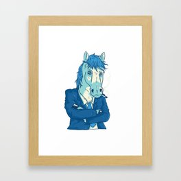 Cool Business Horse Framed Art Print