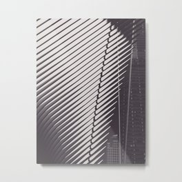 New York City, Oculus, architecture photo, fine art, black & white city, One World Trade Center Metal Print