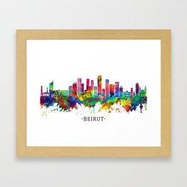 Beirut Lebanon Skyline Framed Art Print