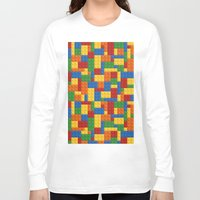 playstation Long Sleeve T-shirts featuring Lego bricks by eARTh