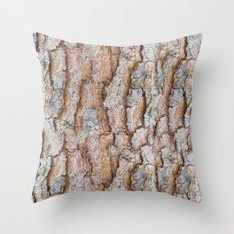 Pine bark textures Throw Pillow