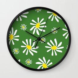 Daisy Doo Green Wall Clock