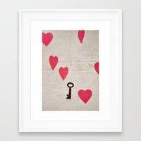 key Framed Art Prints featuring Key by SilverSatellite