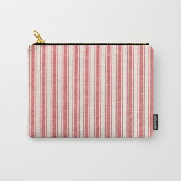 Farmhouse Ticking / Red Carry-All Pouch