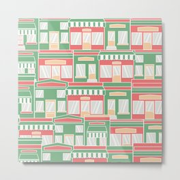 Pattern with colorful houses Metal Print
