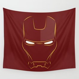iron man face Wall Tapestry