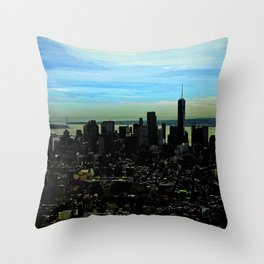Artistic NYC Skyline Throw Pillow