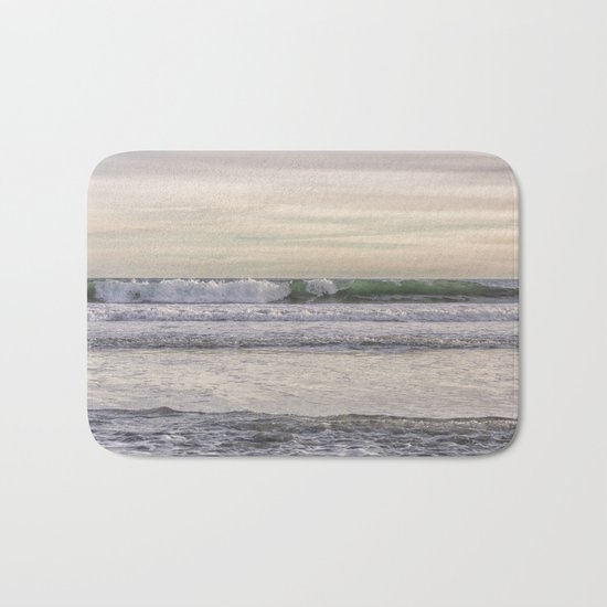 Winter waves at the beach Bath Mat