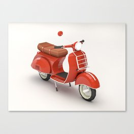 Vespa love Canvas Print