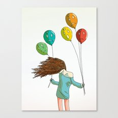 Baloons on wind Canvas Print