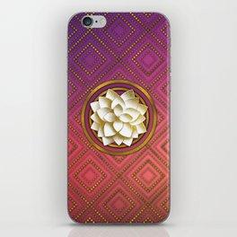 Elegant White & Gold Lotus flower iPhone Skin