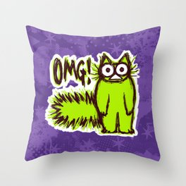OMG CAT Throw Pillow