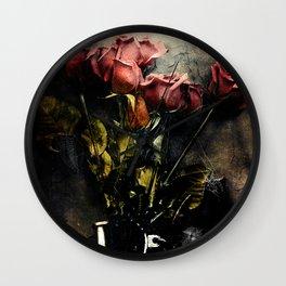 Forgotten Roses Wall Clock
