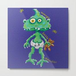 Mommy's Little Monster Metal Print