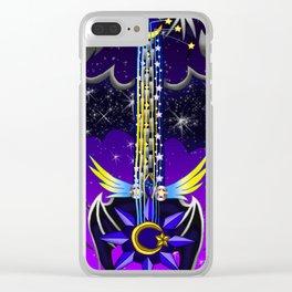 Fusion Keyblade Guitar #148 - Oblivion & Star Seeker Clear iPhone Case