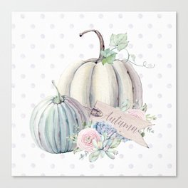 Pastel Autumn Pumpkins Canvas Print