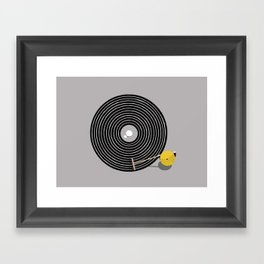 Zen vinyl Framed Art Print