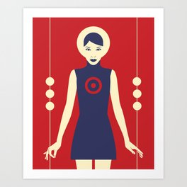 Isolde Red Art Print